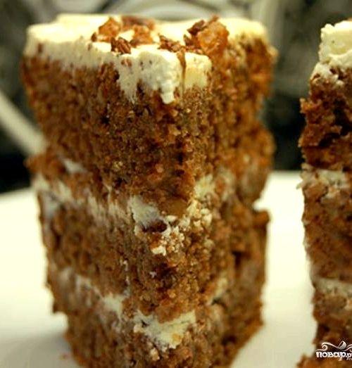 Торт с кедровыми орехами рецепт с фото