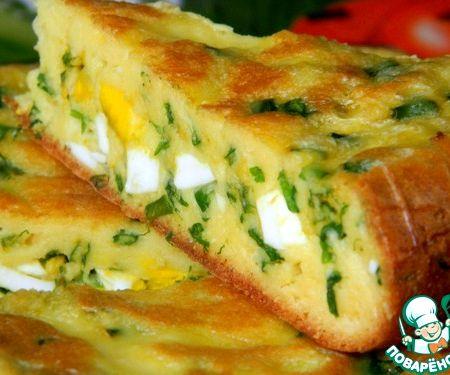Быстрый пирог с луком и яйцом рецепт пошагово в духовке