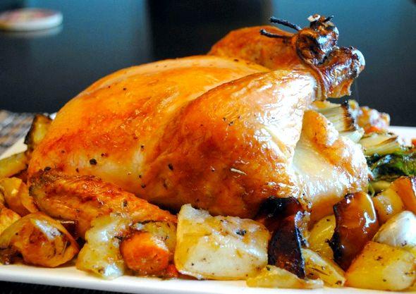 Курица целиком в духовке рецепт с фото пошаговый