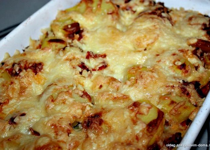 Блюда из картошки с фаршем без духовки рецепты