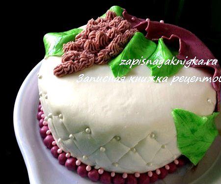 Двухъярусные торты из мастики - рецепты
