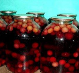 Компот из абрикосов и вишни на зиму рецепт с фото